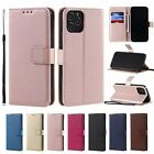 10pcs/lot Lambskin Solid Color Wallet Card Leather Case for iPhone Samsung Moto