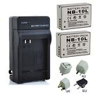Battery /Charger For Canon NB10L NB-10L PowerShot SX40 HS G1 X CB-2LCE CB-2LC