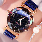 Stylish Ladies Watch Starry Sky Round Dial Women Bracelet Watches Magnetic Worth image