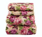 Beautiful Bedding Super Soft  Comfort Floral 4 pcs Sheet Set Butterfly image