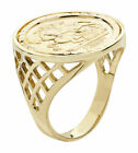 9ct Yellow Gold St George Ring Fully Hallmarked Size N to Z+6