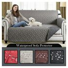 1/2/3 Seater Sofa Slip Cover Quilted Waterproof Pet Protector Sofa Settee Throw