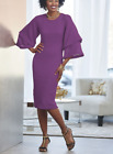 Ashro Formal Purple Plum Dinner Alondra Dress Church Party Size M 2X PLUS