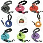 Nylon Reflective Rope Dog Lead Heavy Duty with Padded Handle Leash for Large Dog