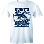 Quints Fishing Jaws Movie T Shirt Amity Island Poster Retro Distressed Tee Mens