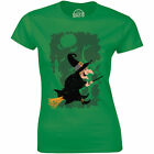 Scary Ugly Witch Flying Halloween Costume Shirt Women's T-shirt Gift Tee