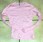 Pink Long Sleeved Juniors Ladies T-Shirt Medium / OSFA