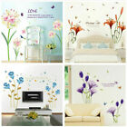 Varies Flowers Art Wall Stickers Diy Decals Mural Backdrop Living Room Decor Us