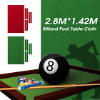 2.8x1.4m Pool Table Cloth Felt  + 6x Strips For 9FT Snooker Pool Billiards Table