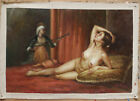 "Fine art Dynasty court lady nude girl original oil painting on canvas 24""x36"""