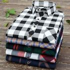 Men Flannel Shirt Long Sleeve Button Down Slim Fit Outfit For Camp Hanging Out