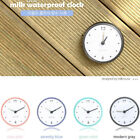 US WATERPROOF BATHROOM BATH SHOWER WALL CLOCK SUCTION CUP SUCKER HOME DECOR