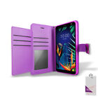 For Metro Pcs LG K40 (LM-X420) Leather Double Wallet Flip Folio Stand Case Cover