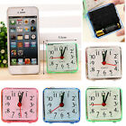 Small Cute Bed Compact Travel Quartz Beep Alarm Battery Operated Portable Clocks