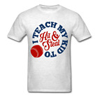 I teach My kid to hit and steal funny baseball mom dad T-Shirt