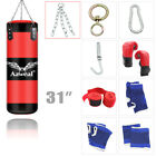 Heavy Boxing Punching Bag Training Gloves Speed Set Kicking MMA Workout GYM US