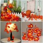 Christmas LED Autumn Fall Maple Leaves Fairy String Lights Lamp Garland Decor