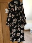 Beautiful black patterned drees by 8 uk size 12
