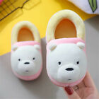 We Bare Bears Ice Bear Panda Plush Slippers Kids Soft Stuffed Indoor Shoes