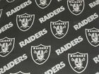 NFL Oakland Raiders Cotton Fabric BTY - Free Shipping $9.95 USD on eBay