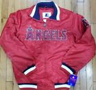Authentic Red Los Angeles Angels Starter Brand MLB Satin Jacket on Ebay