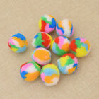10Pcs Colorful Soft Play Balls Pet Dog Cat Playing Game Funny Toys Supplies UK
