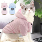 Winter Cat Dog Coat Clothes Warm Cotton Padded Jacket Hooded Chihuahua Clothing