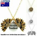You Are My Sunshine Sunflower Open Locket Gold Chain Pendant Necklace S4