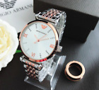 Women's Dress Stainless steel Wristwatches Crystal Roman Number Watch image