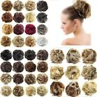 44 Colors Pony Tail Women Clip in/on Hair Bun Hairpiece Extension Scrunchie R0J9