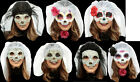 Day of the Dead sugar skull masks with veil