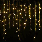 13-130FT LED Fairy Icicle String Curtain Lights Indoor Outdoor Xmas Decor Garden