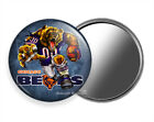 ANGRY RUNNING CHICAGO BEARS FOOTBALL TEAM PURSE POCKET HAND MIRROR FAN GIFT IDEA $11.49 USD on eBay