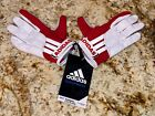 ADIDAS EQT Lax White Red Grey Padded Lacrosse Gloves NEW Womens Sz S M