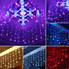 96led 3.5m Star Fairy Curtain String Lights Xmas Indoor Party Wedding Home Decor