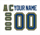 St Louis Blues Customized Number Kit for 1998 2014 White Jersey