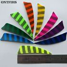 24pcs 3 Inch Arrow Feather Striped Archery Accessories Fletches Shield Feathers