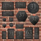 Rustic Slate House Gate Sign Plaque Door Number Personalised Name Plate Uk Made