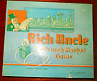 RICH UNCLE-Complete Parker Brothers Game-1955-Monpoly Mascot-Fun Trading Game