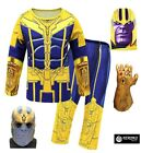 Thanos Costume Carnevale Bambino Avenger Cosplay Child Costume End Game THAN02