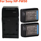 NP-FW50 Battery For Sony Alpha A6000 A6300 A55 A5100 A7r A7 NEX-3 5K 5C Charger