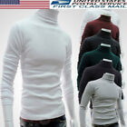 Kyпить US Men Basic Sweater Long Sleeve Pullover High Neck Turtleneck Stretch Slim Tops на еВаy.соm