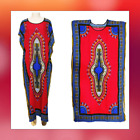 Women's Long Ankle / Knee Length Kaftan African Dashiki Cotton Dress One Size