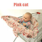 2-in-1 Baby Shopping Trolley Cart Cover Seat kids High Chair Protector Mat ^