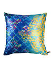Blue Print Polyester Cushion Cover Throw Pillow Cover Sofa Home Décor Set Of 2