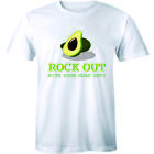 Rock Out With Your Guac Out Shirt - Funny Avocado Work Out Men's T-shirt Tee