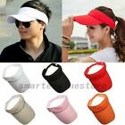 Men Women Sun Visor Cap Adjustable Sports Tennis Golf Headband Cotton Hat AU