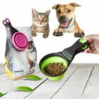 Pet Cat Dog Food Feeding Scoop Dogs Feed Storage Tool Measuring Cup Spoon Sealin