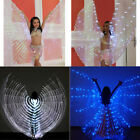 Large Iridescent LED Isis Wings Glow Light Up Belly Dance Costumes w Sticks