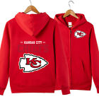Kansas City Chiefs Hoodie jacket Zip Up casual coat Sweatshirt FAN'S Gift $23.74 USD on eBay